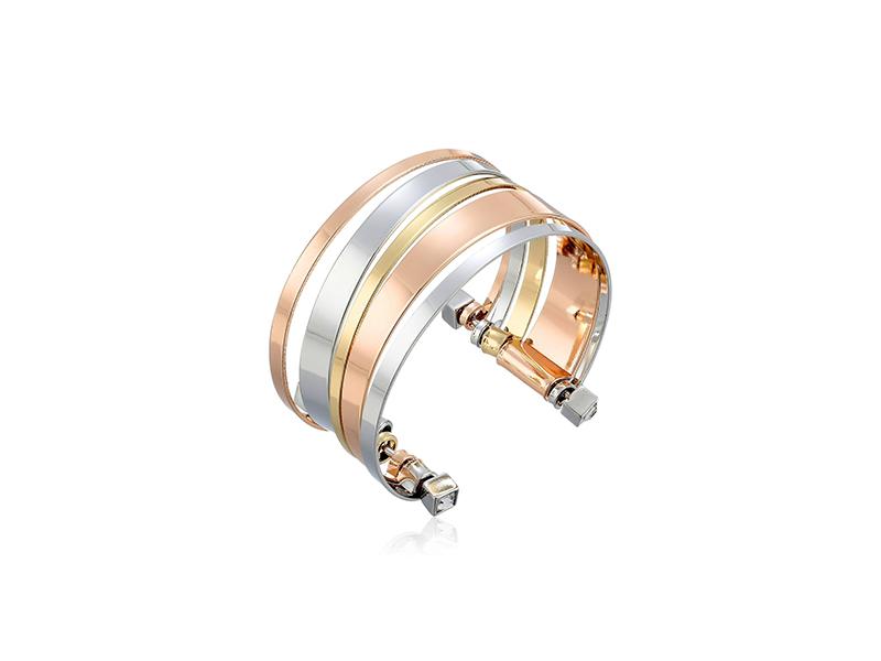 BCBGeneration Tri-Tone Cuff Bracelet