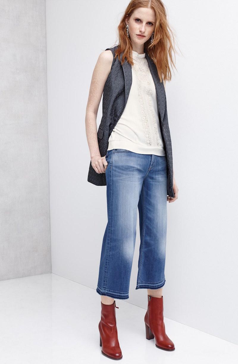 Chelsea28 Jacquard Long Vest