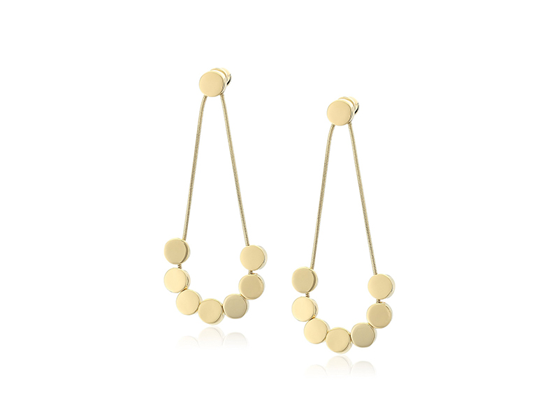 Diane von Furstenberg Summer Disco Circle Chandelier Drop Earrings
