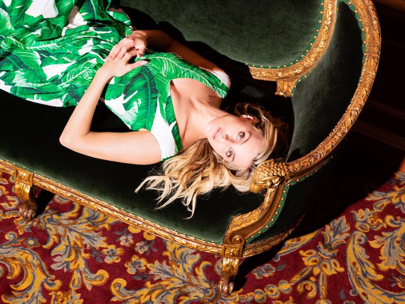 Dolce & Gabbana Foliage-Print Midi-Dress