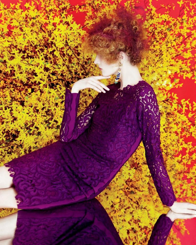 Elie Tahari Bellamy Lace Long-Sleeve Dress