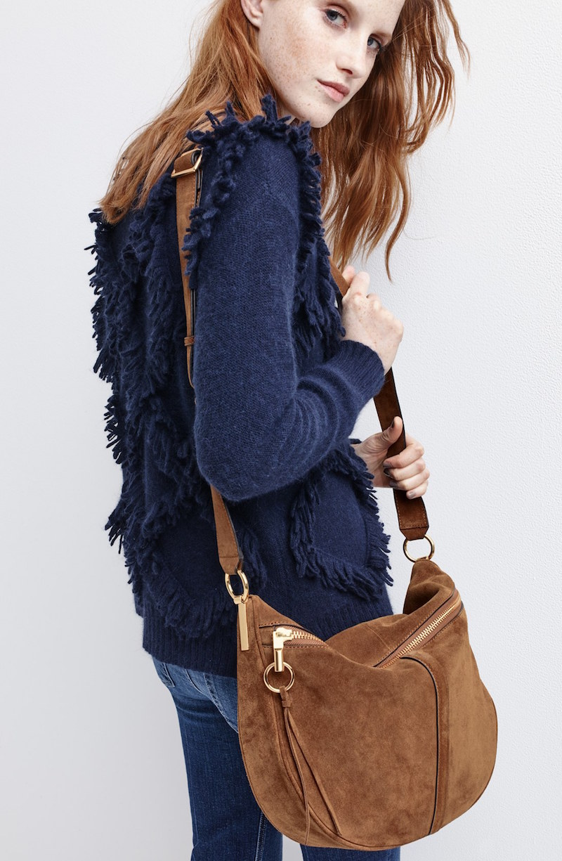 Elizabeth and James Scott Suede Crossbody Bag