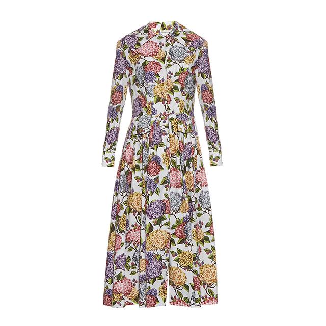 Emilia Wickstead Dolly Hydrangea-print Midi Dress_1