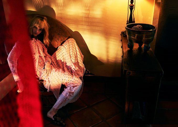Erdem Aliza exposed-shoulder fil coupé gown