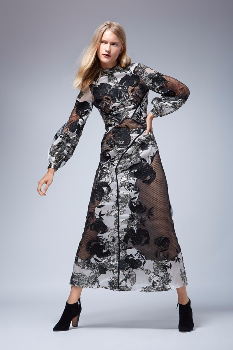 Erdem Briana Floral Jacquard Dress