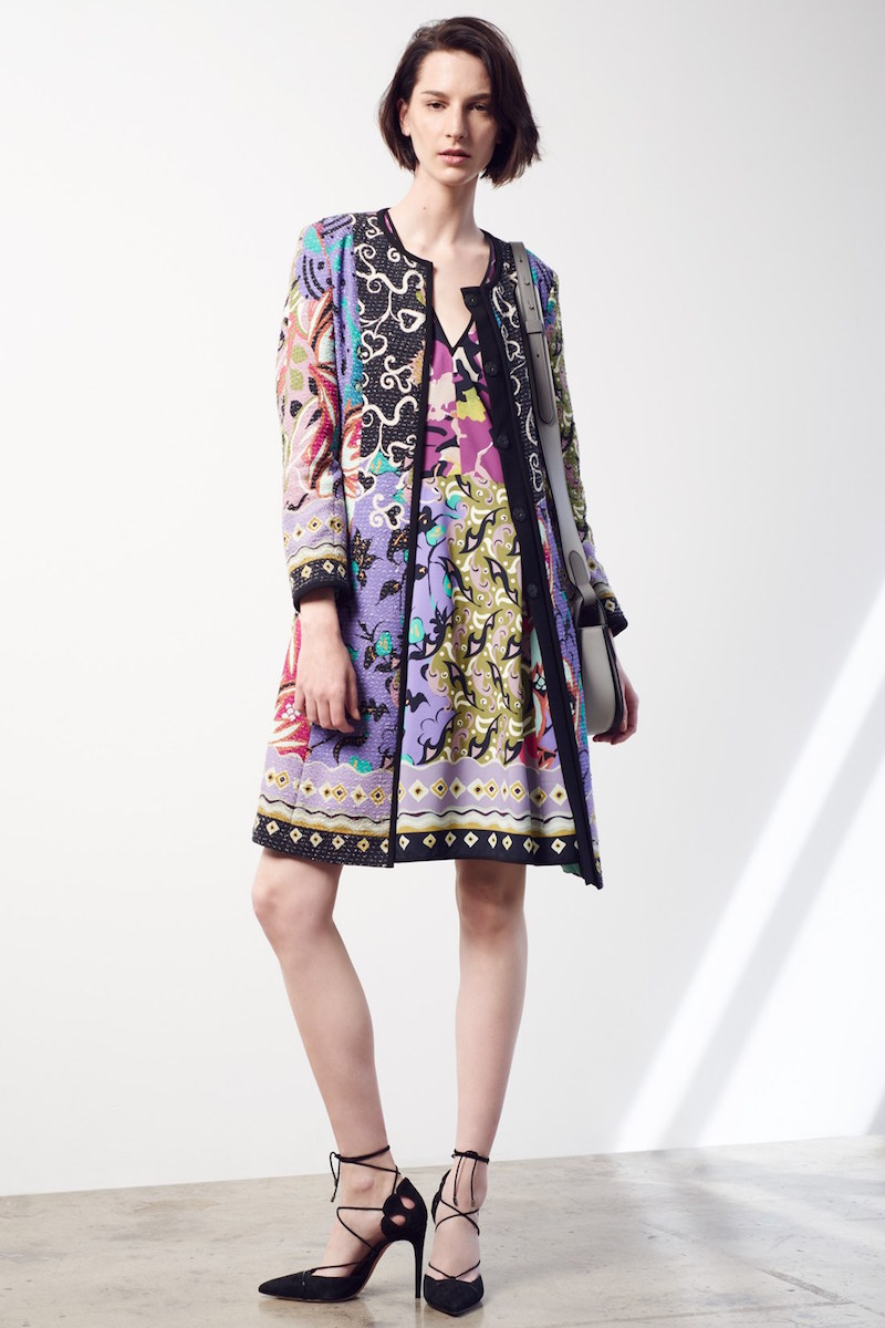 Etro Floral Patchwork Textured Coat