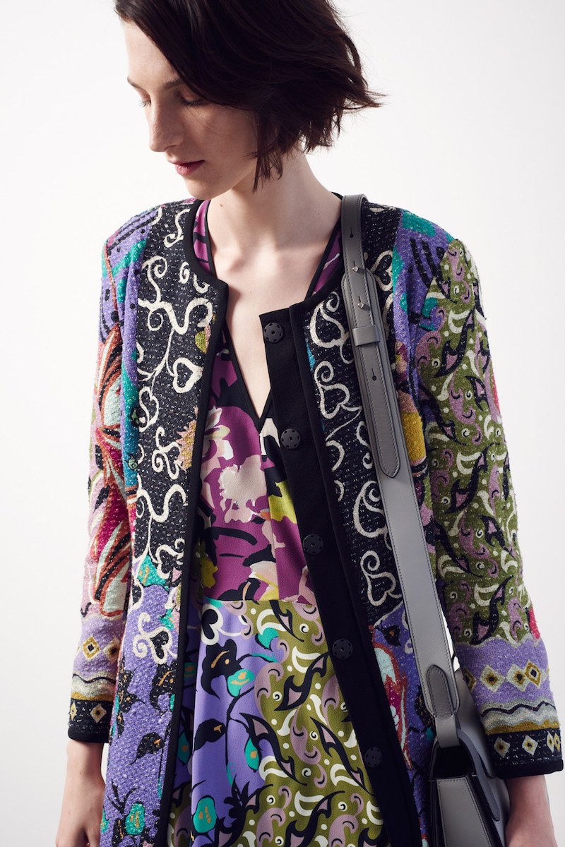 Etro Floral Print V-Neck Sheath Dress