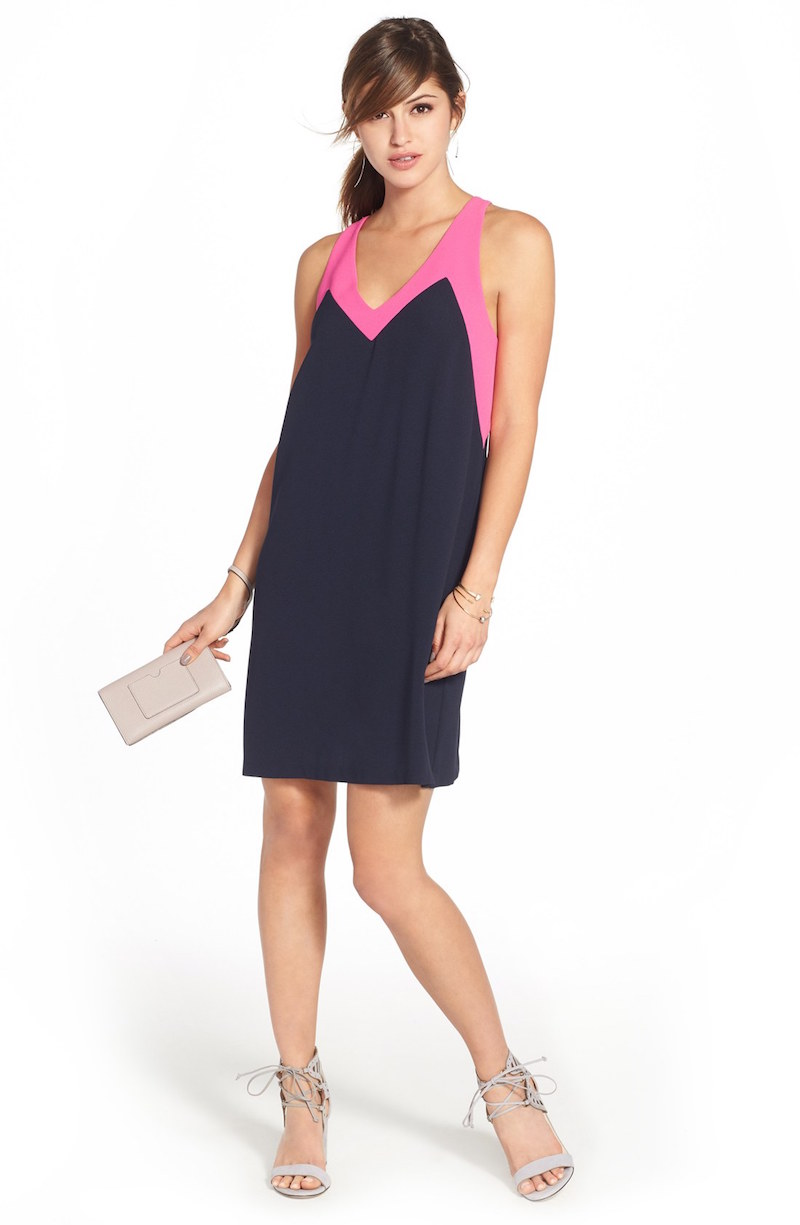 FELICITY & COCO Colorblock Jersey Shift Dress