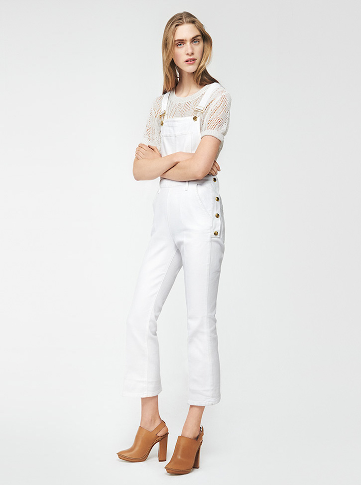 Frame Denim Le Antibes Mini Cropped Dungarees