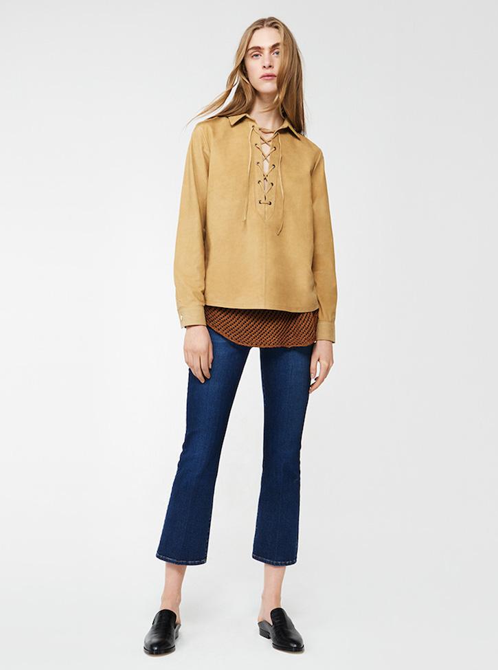 Frame Denim Le Crop Mini Boot Mid-rise Jeans in Indigo Blue