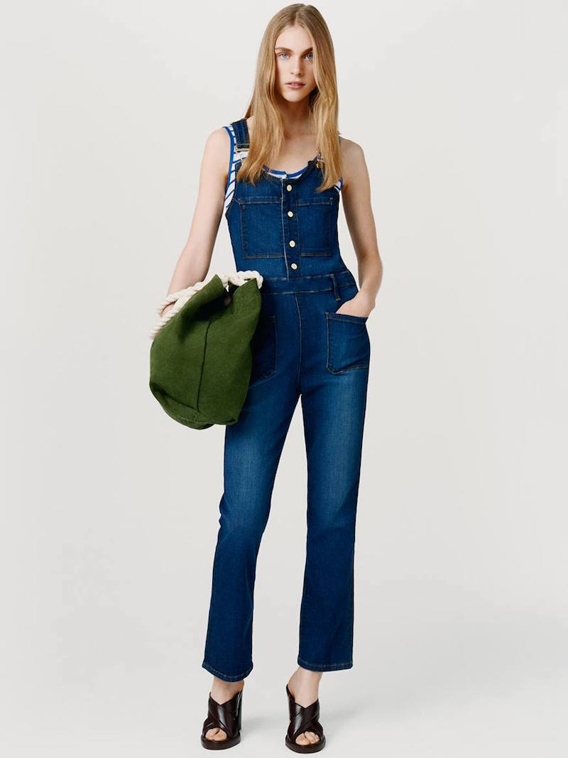 Frame Denim Le High cropped Dungarees