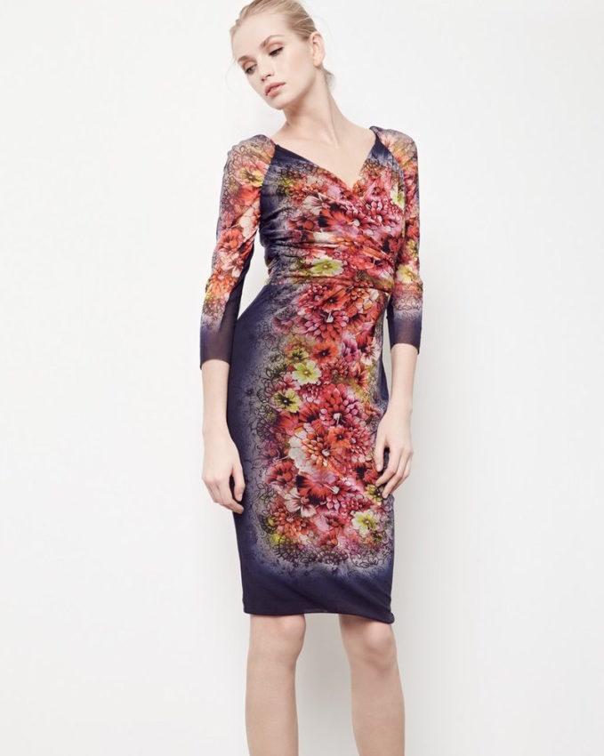 Fuzzi Tattoo Floral Print Tulle Dress_1