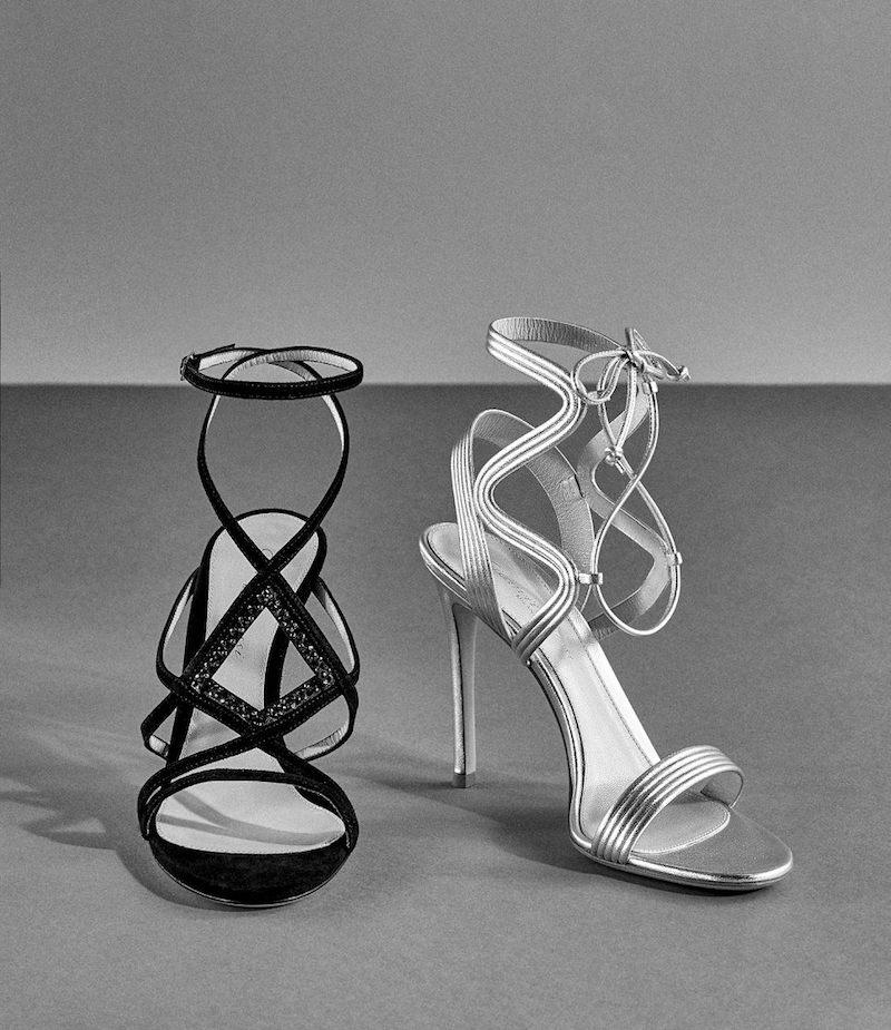 Gianvito Rossi Zigzag-Strap Sandals