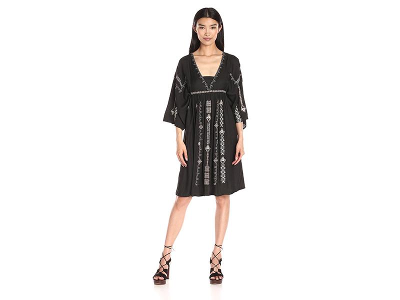 Greylin Nadia Embroidered Midi Dress