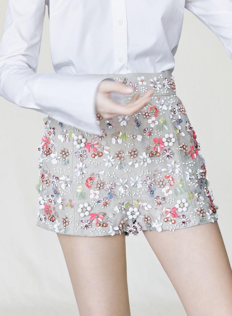 J.Crew Collection embellished linen short