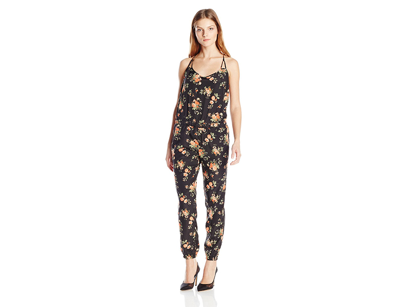 Jack by BB Dakota Linette Rose Revival Printed Crepon Jumpsuit
