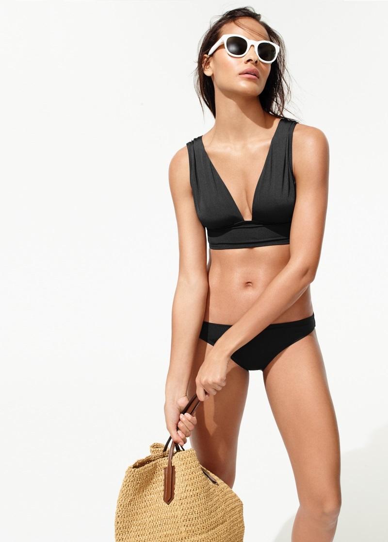 Jersey Lomellina french bikini top