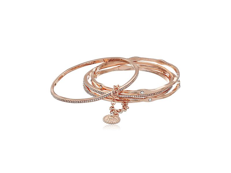 Jessica Simpson Organic Pave Set of 5 Bangle Bracelet