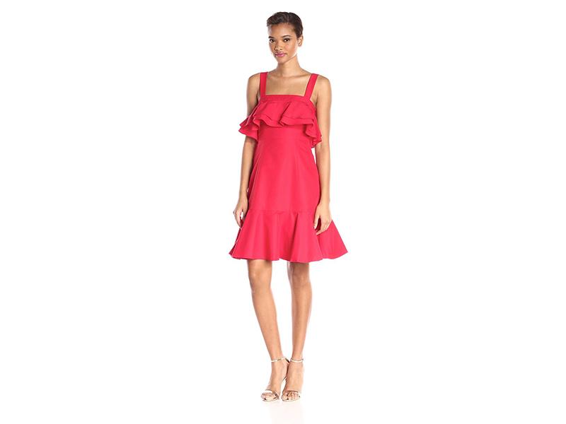 Jill Jill Stuart Ruffle Tiered Spaghetti Strap Dress