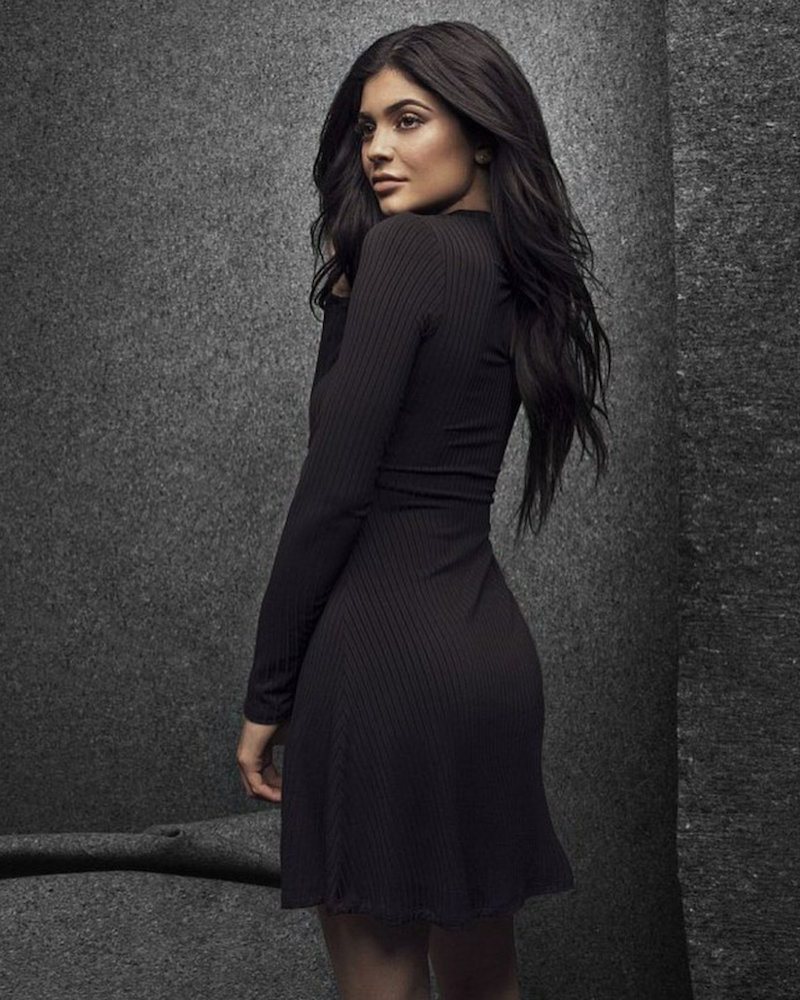 Kendall & Kylie Cutout Front Mock Neck Dress