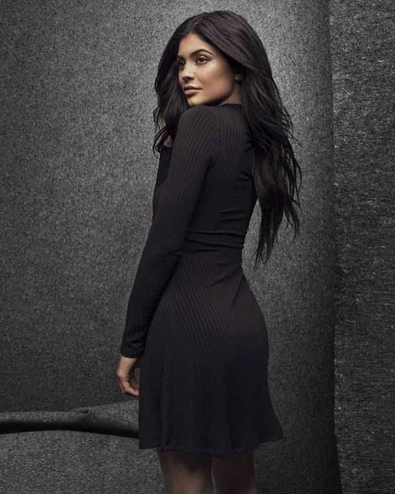 Kendall & Kylie Cutout Front Mock Neck Dress