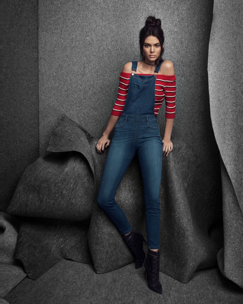 Kendall & Kylie Jessica Wash Skinny Overalls