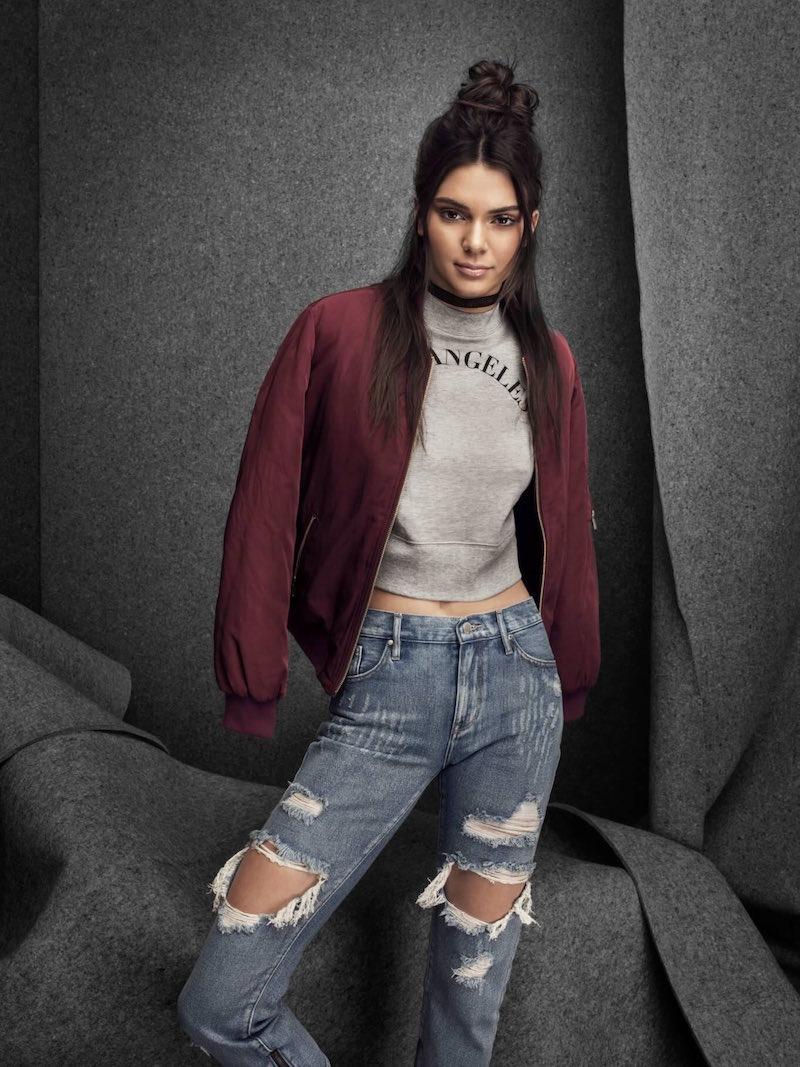 Kendall & Kylie LA 3/4 Sleeve Mock Neck Sweatshirt