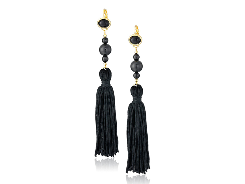 Kenneth Jay Lane Bead and Tassel Drop Earrings