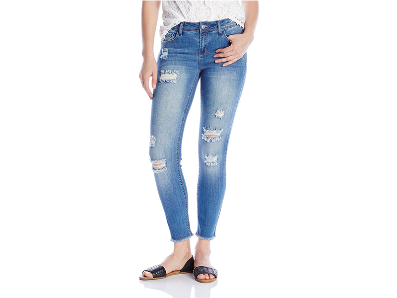 Kensie Jeans 28 Inch Ankle Biter with Fray Hem