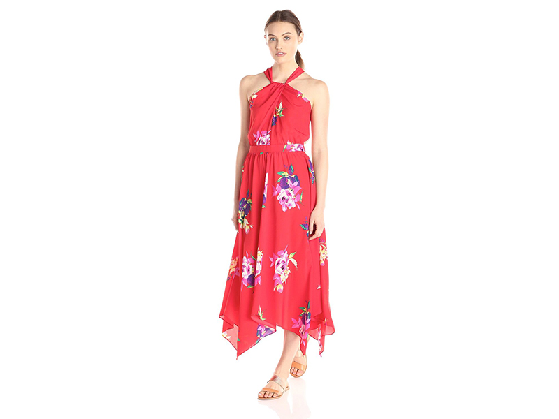 Lark & Ro Halter Neck Midi Dress
