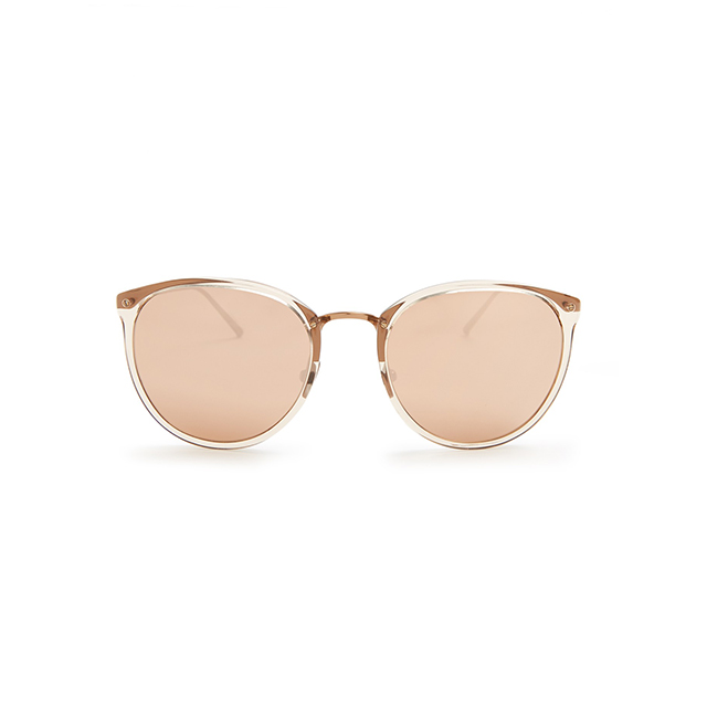 Linda Farrow Cat-eye Rose-gold Plated Sunglasses