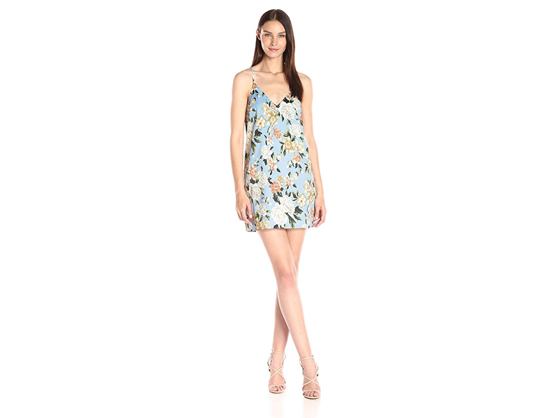 Lucca Couture Floral Print V-Neck Cami Shift Dress