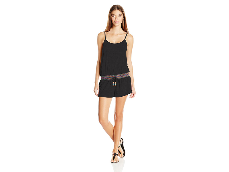 Lucky Brand Love Fiesta Cover-Up Romper with Adjustable Straps