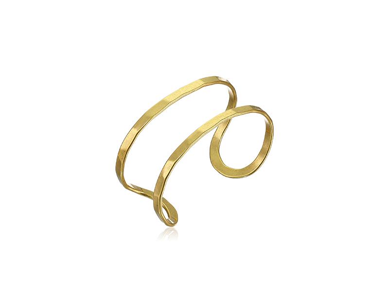 Lucky Brand Mod Gold-Tone Cuff Bracelet