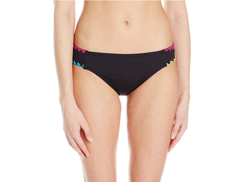 Lucky Brand Night Dreamer Shell Stitch Tab Side Bikini Bottom