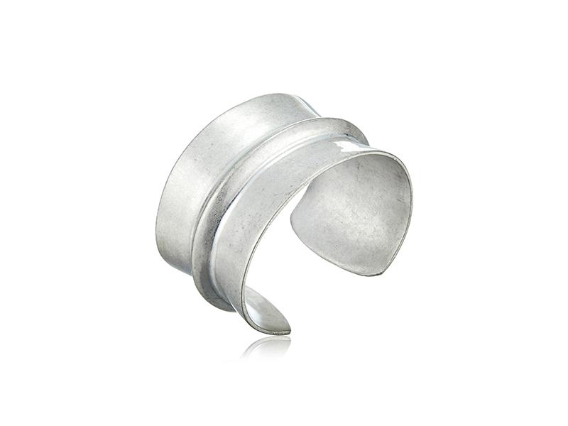 Lucky Brand Silver Mod Cuff Bracelet