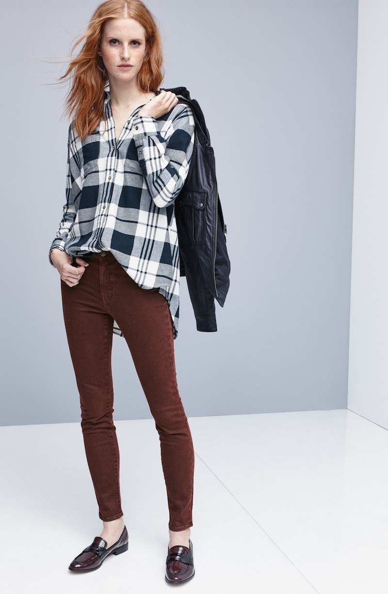 Madewell Ex Boyfriend Plaid Oversize Cotton Shirt