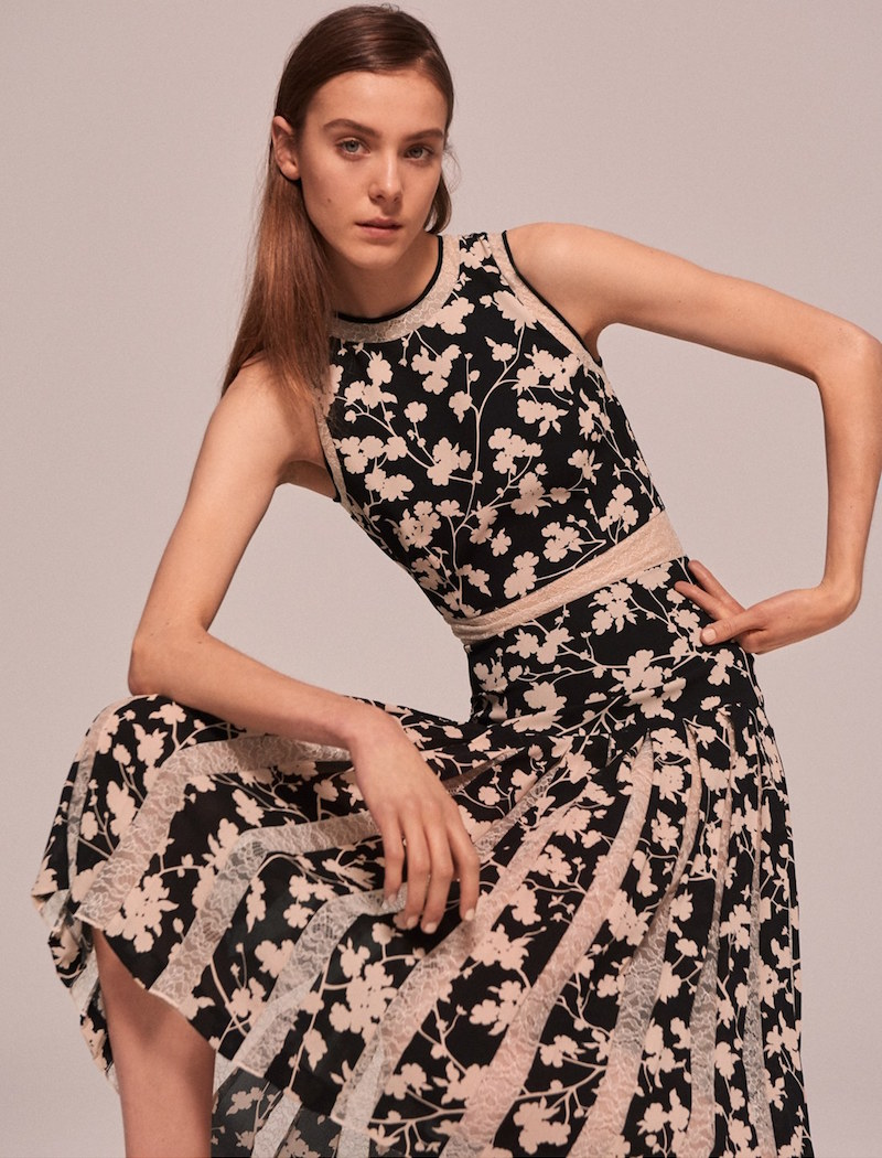 Michael Kors Floral Print Carwash Pleat Dress