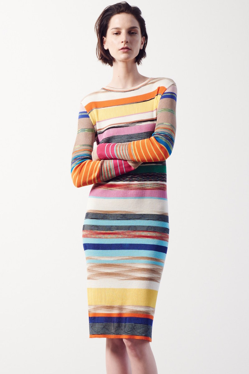 Missoni Stripe Rib Knit Sheath Dress