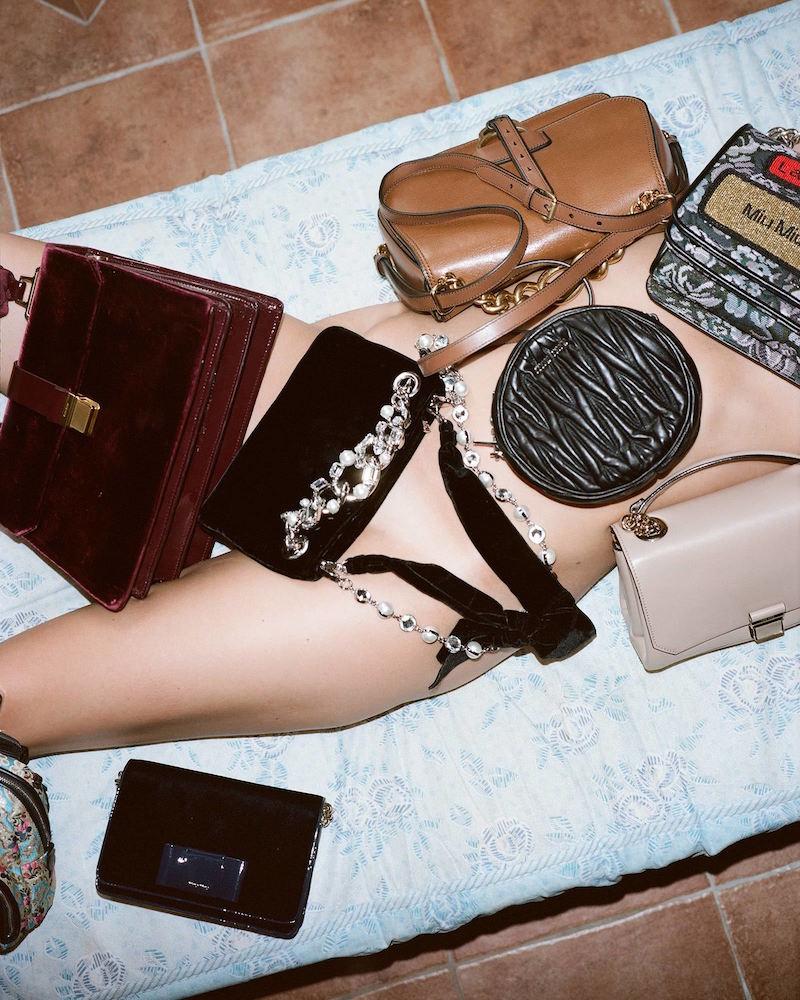 Miu Miu Black Matelassé Shoulder Bag