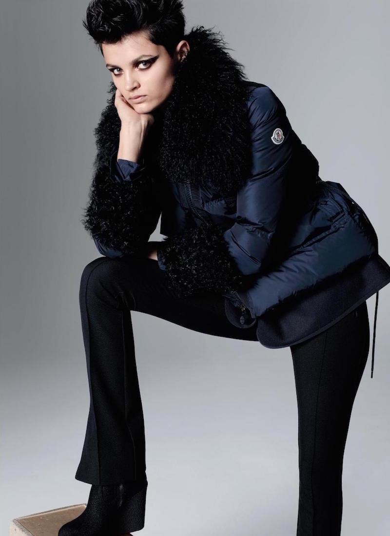 Moncler Amelie Fur Trim Puffer Jacket