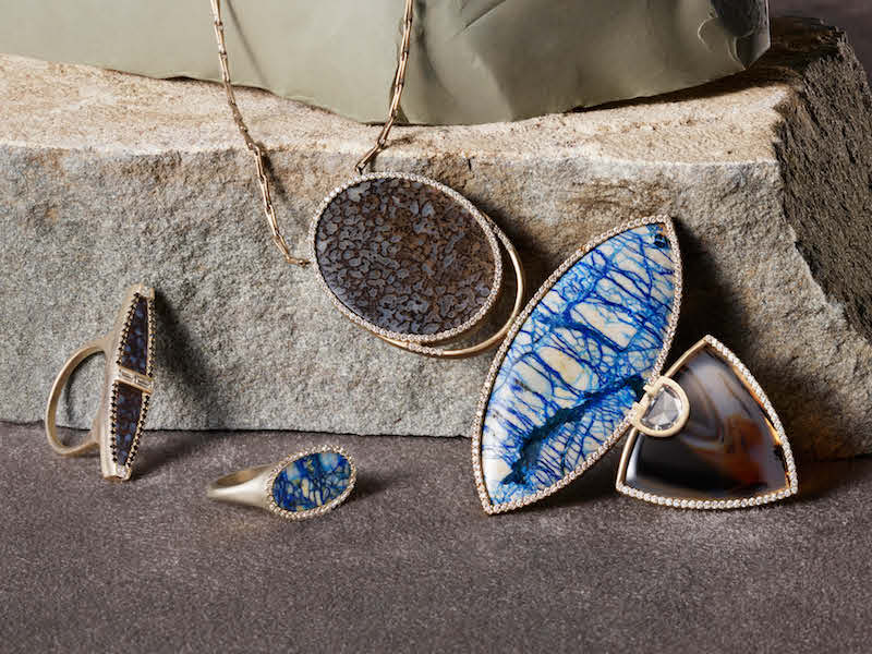 Monique Péan White Diamond & Mixed-Gemstone Pendant Necklace