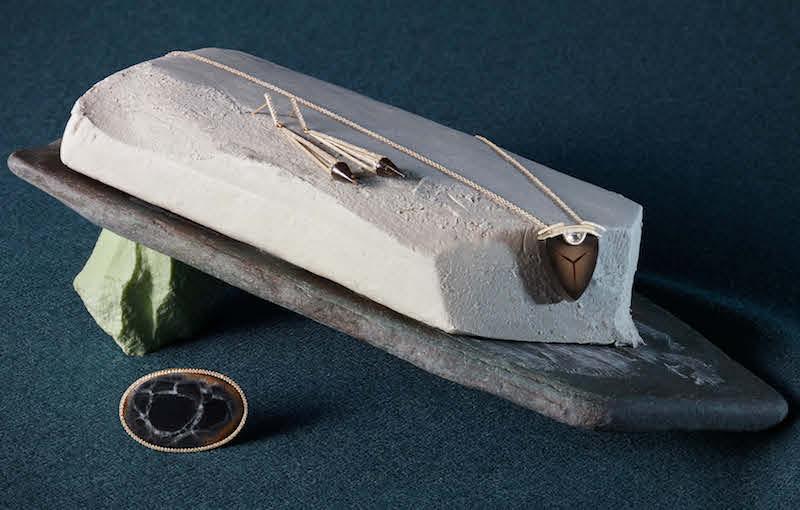 Monique Péan White Diamond & Septarian Ring