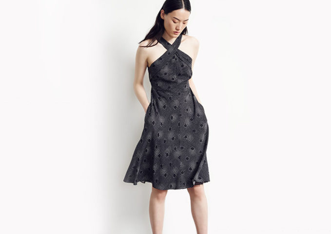 Nordstrom Signature and Caroline Issa Print Silk Twill Halter Dress_1