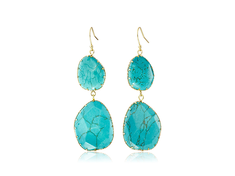 Panacea Double Turquoise Drop Earrings