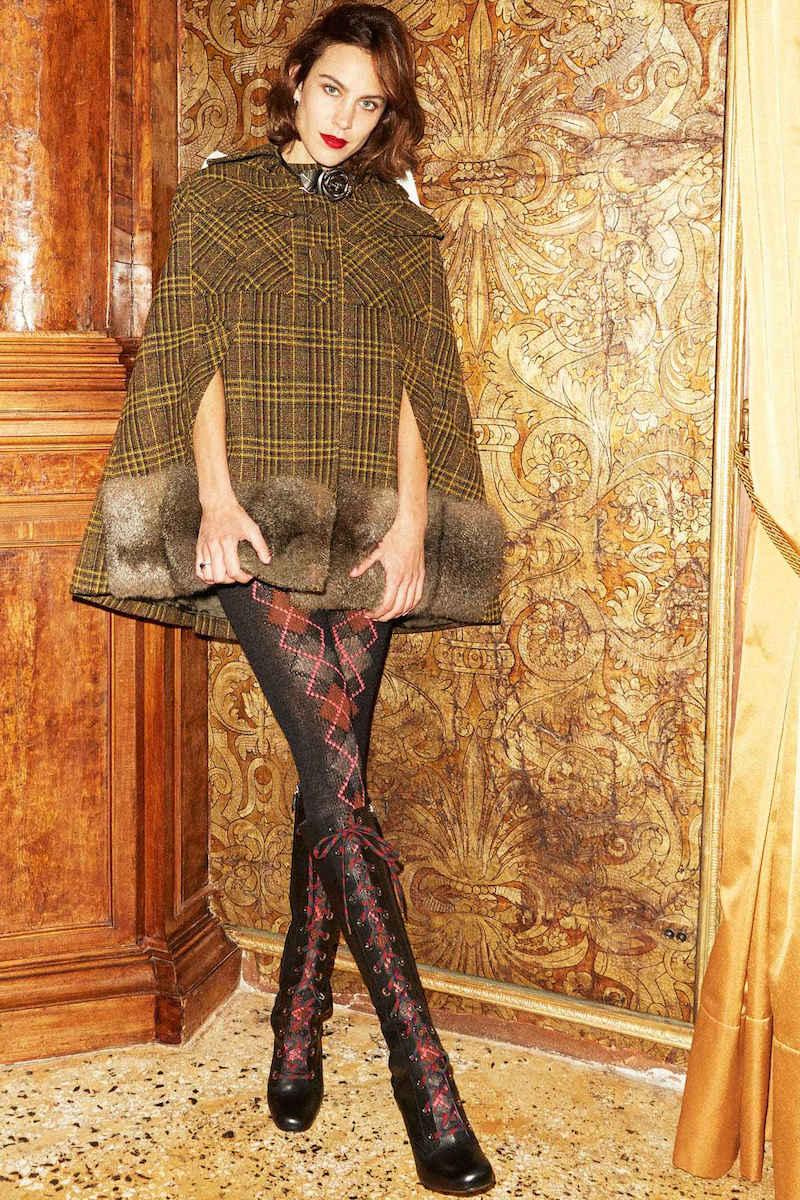 Prada Argyle Wool Tights