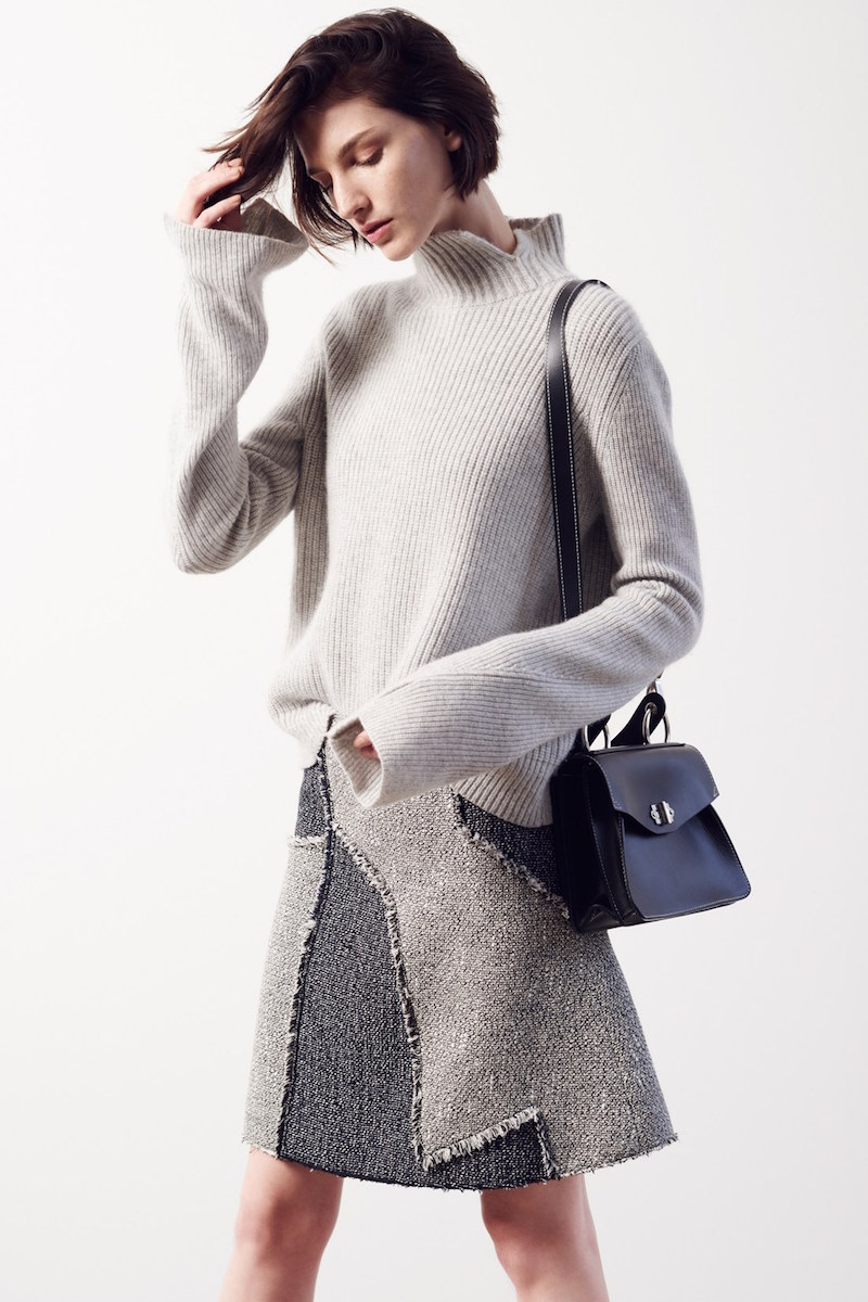 Proenza Schouler Flare Sleeve Wool & Cashmere Turtleneck Sweater