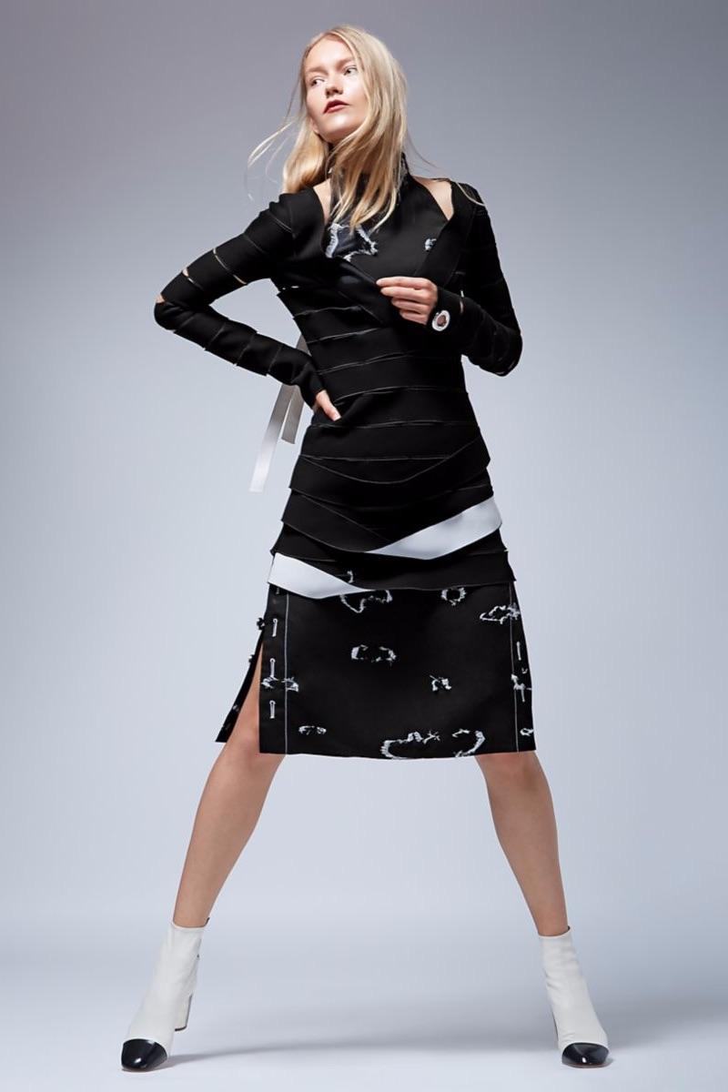 Proenza Schouler Long Sleeve Pencil Dress