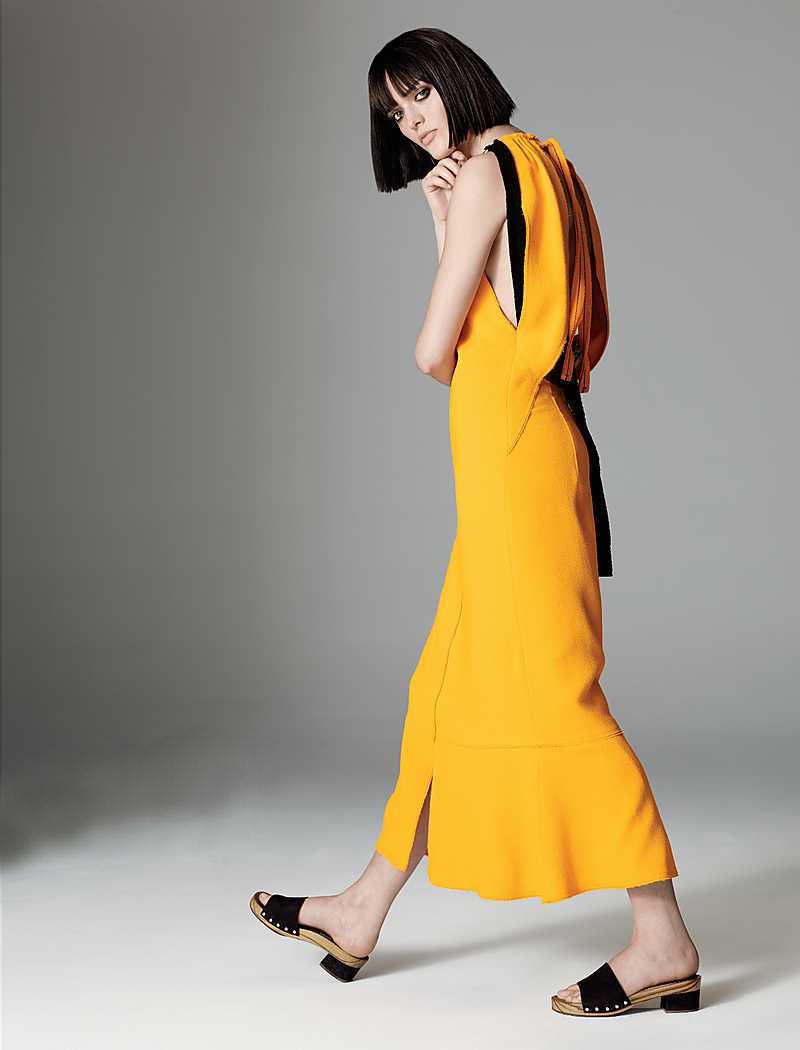 Proenza Schouler Necklace-Collar Tie-Back Crepe Dress