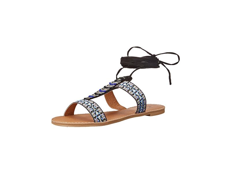 Qupid Athena-905A Flat Sandal